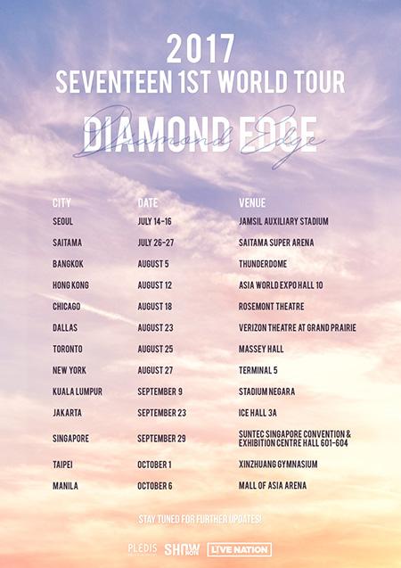 2017 SEVENTEEN 1ST WORLD TOUR 'DIAMOND EDGE' in JAPAN