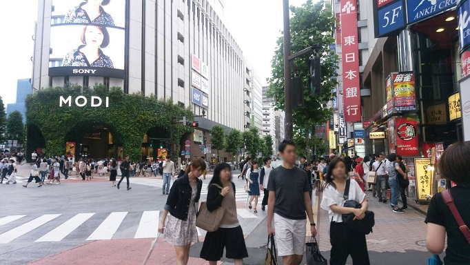 渋谷駅からタワーレコード渋谷へ