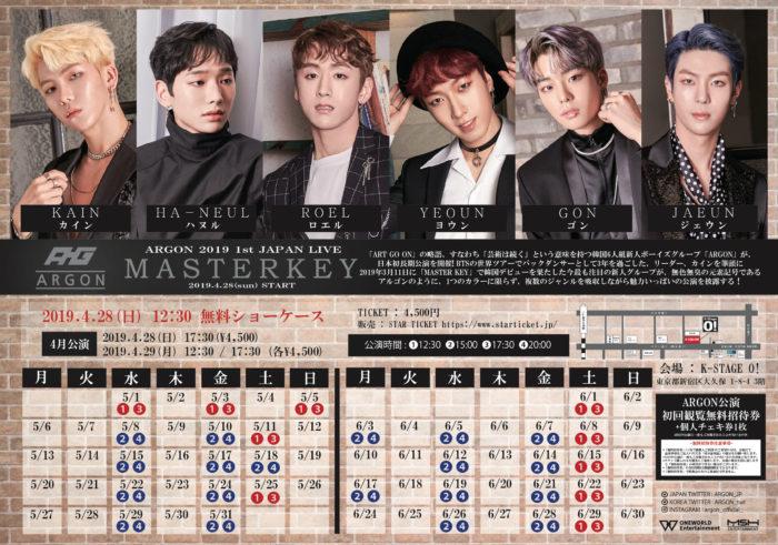 「ARGON 2019 1st JAPAN LIVE MASTERKEY」