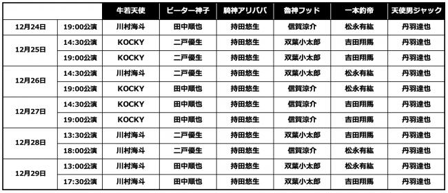 「ビックリマン 〜ザ☆ステージ〜」スケジュール