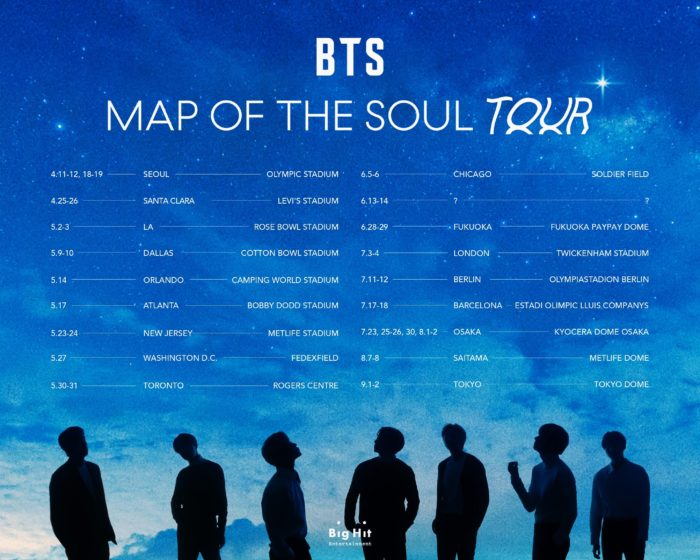 BTS MAP OF THE SOUL TOUR