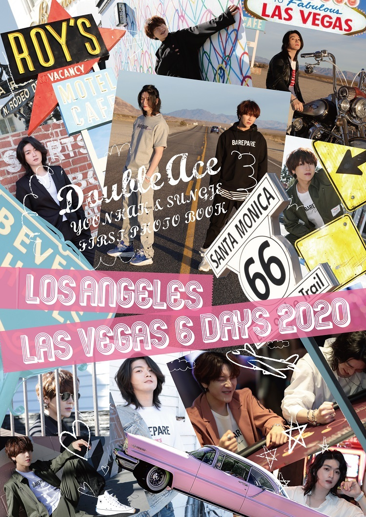 Double Ace YOONHAK & SUNGJE ファースト写真集「LOS ANGELES LAS VEGAS 6DAYS 2020」