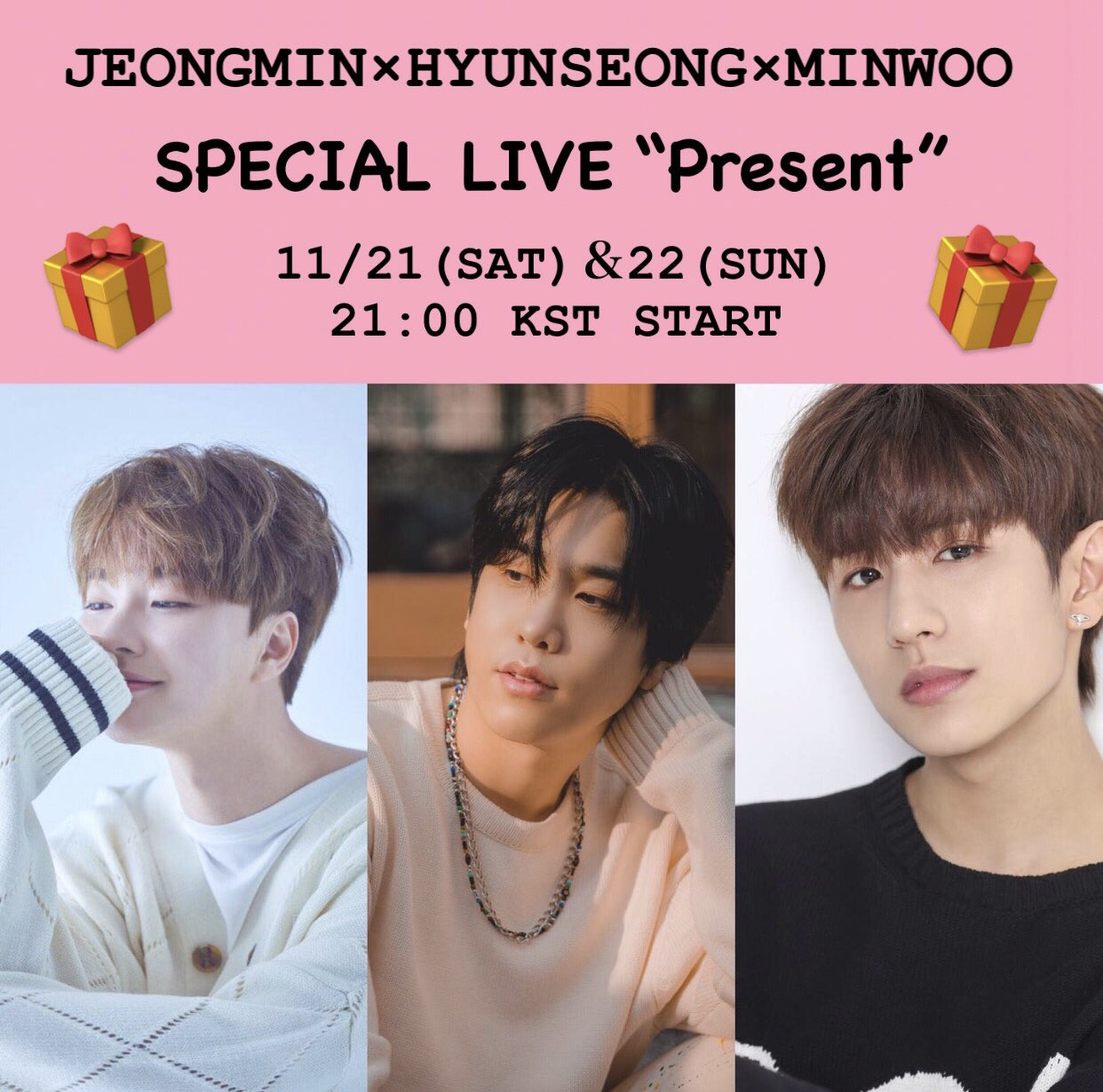 "JEONGMIN×HYUNSEONG×MINWOO SPECIAL LIVE ""Present"""