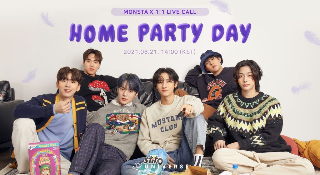 MONSTA X 1:1 LIVE CALL HOME PARTY DAY