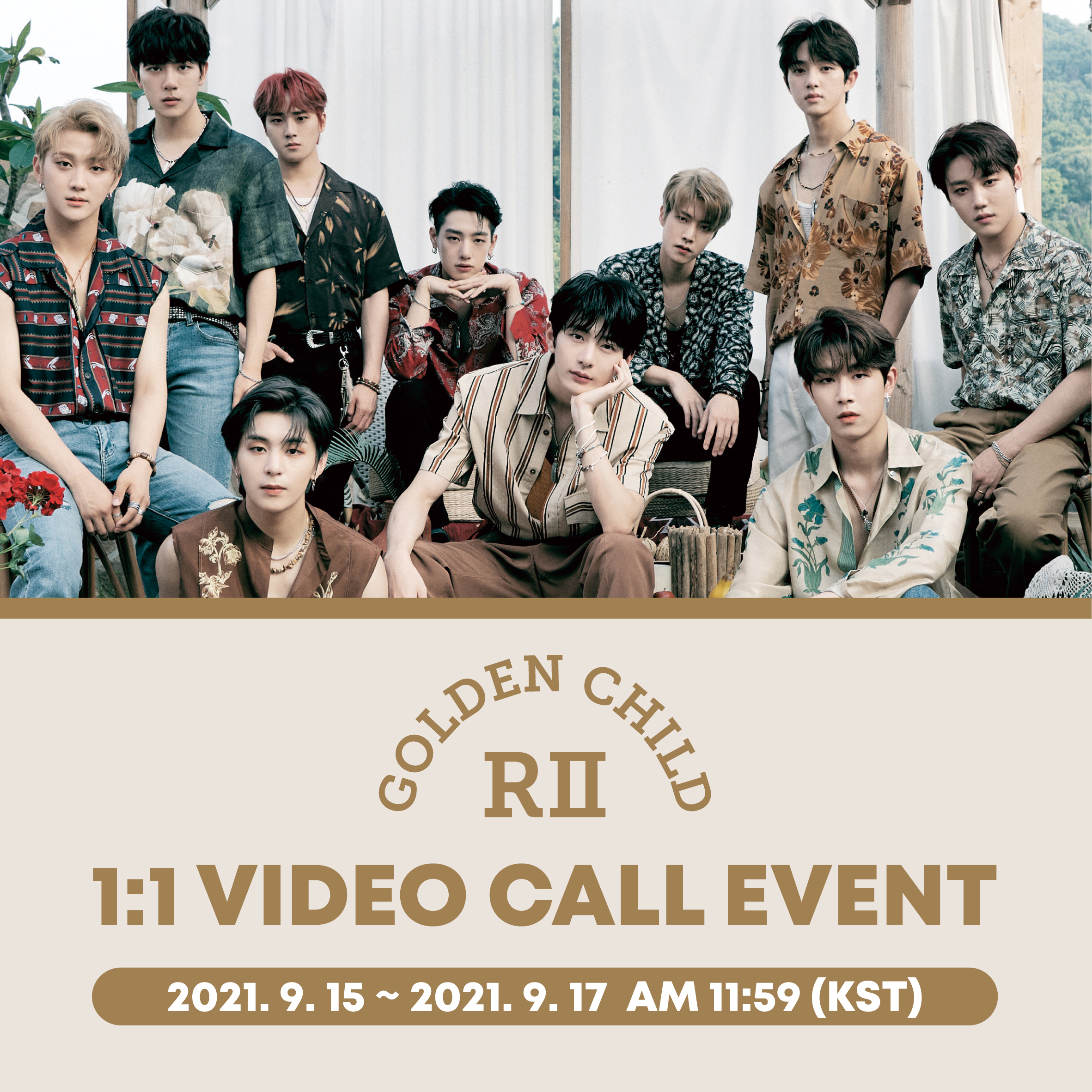 Golden Child 2nd Album [GAME CHANGER] 1:1 Video Call Event